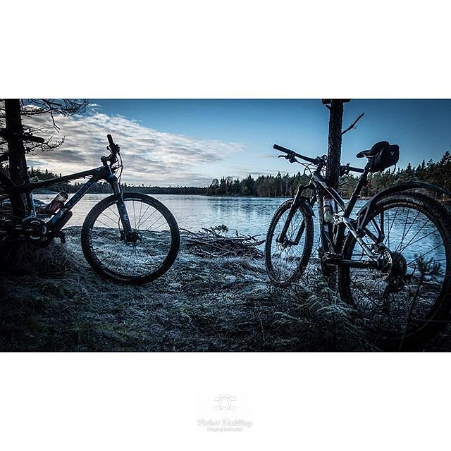 Bikeride in the magical winter Forrest #sony #rx100iv #nature #sweden #compactcamera